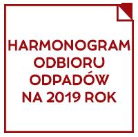 HARMONOGRAM ODBIORU ODPADÓW NA 2018 ROK